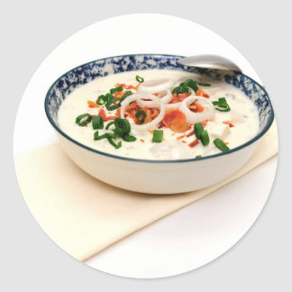 Clam Chowder With Paprika Classic Round Sticker