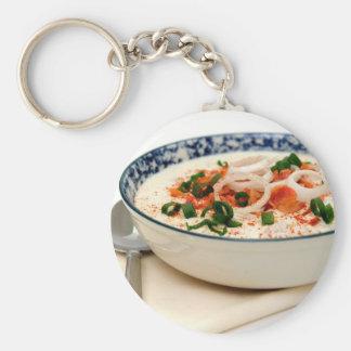 Clam Chowder With Paprika Key Chain