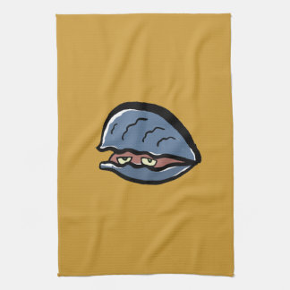 clam kitchen towels