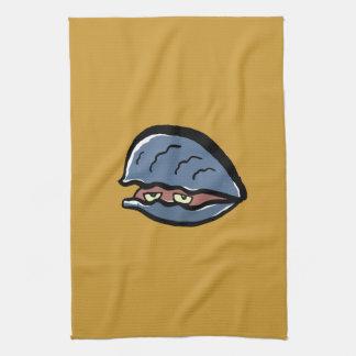 clam kitchen towels