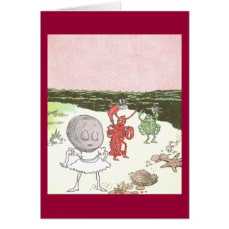 Clam, Lobster & Crab on the Beach Card