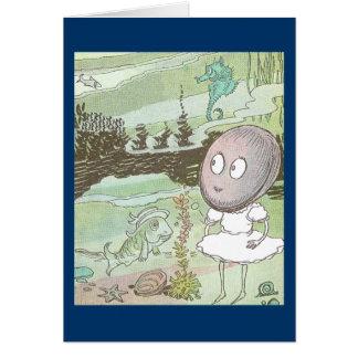 Clam, Seahorse & Fish on the Ocean Floor Card
