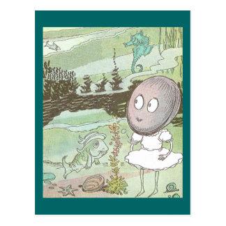 Clam, Seahorse & Fish on the Ocean Floor Postcard