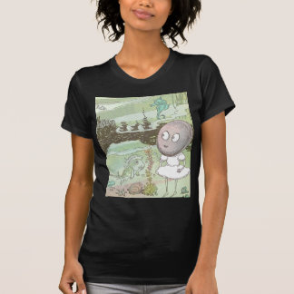 Clam, Seahorse & Fish on the Ocean Floor T-shirts