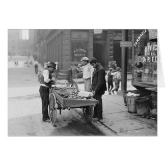 Clam Seller in Little Italy, 1906 Greeting Card
