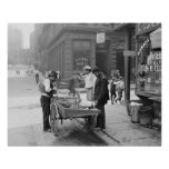 Clam Seller in Little Italy, 1906. Vintage Photo Poster