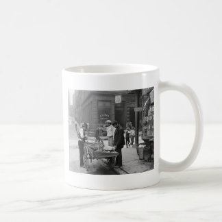 Clam Seller on Mulberry Street, 1900 Classic White Coffee Mug