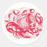 Clam Shack Envelope Seals Classic Round Sticker
