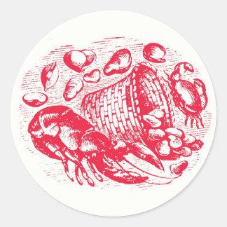 Clam Shack Envelope Seals Round Sticker