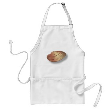 Beach Themed Clam Shell Adult Apron