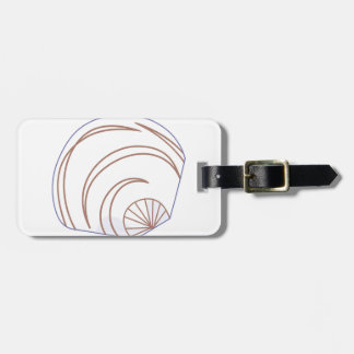 Clam Shell Applique Luggage Tag