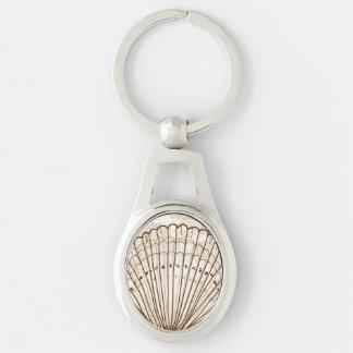 Clam Shell Illustration Keychain
