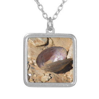 Clam Shell Square Pendant Necklace