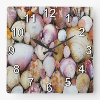 Clam Shell Square Wall Clock