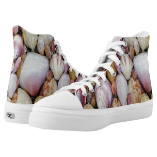 Clam shells printed shoes