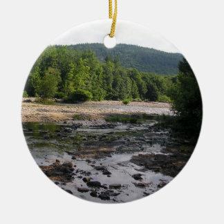 clam stream ceramic ornament