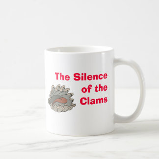 Clam, The Silence of the Clams Coffee Mugs