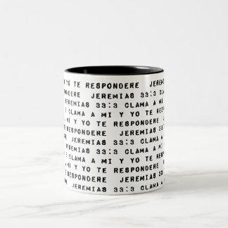 Clama a Mi y Yo te Respondere Two-Tone Coffee Mug
