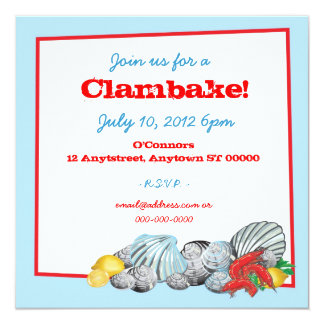 Clambake Invitation