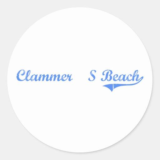 Clammer'S Beach Massachusetts Classic Design Stickers
