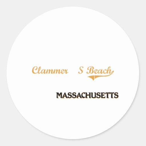 Clammer'S Beach Massachusetts Classic Classic Round Sticker