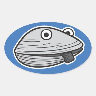 Clammie oval sticker
