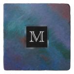 Clamorous Kitchen | Monogram Blue Purple Green Red Trivet