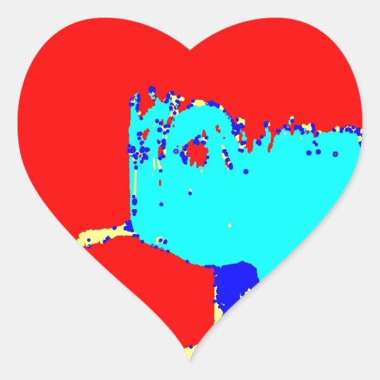 Clamp Brass C Heart Sticker