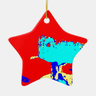 Clamp Brass C Double-Sided Star Ceramic Christmas Ornament