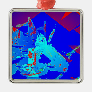 Clamp Brass D Square Metal Christmas Ornament