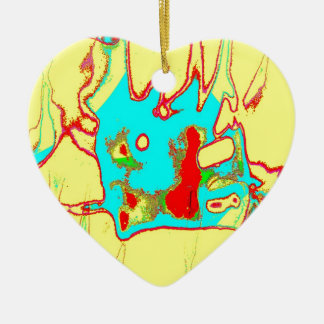 Clamp Brass G Double-Sided Heart Ceramic Christmas Ornament