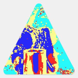 Clamp Brass H Triangle Sticker