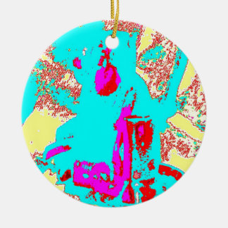 Clamp Brass I Double-Sided Ceramic Round Christmas Ornament