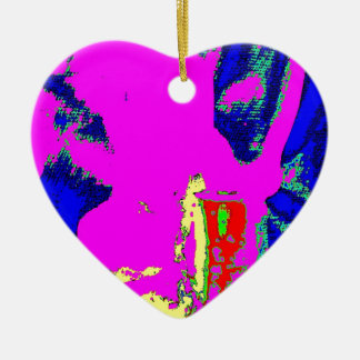 Clamp Brass K Double-Sided Heart Ceramic Christmas Ornament