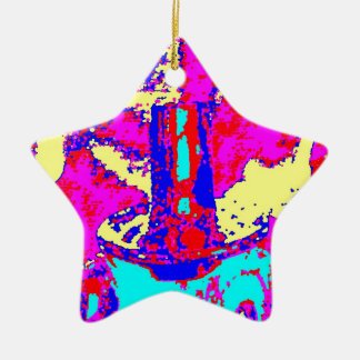 Clamp Brass L Double-Sided Star Ceramic Christmas Ornament