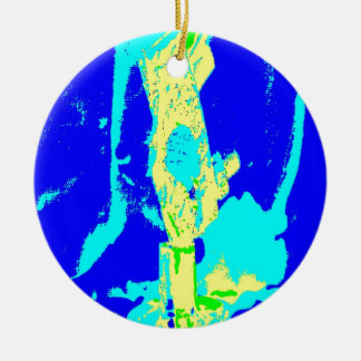 Clamp Brass P Double-Sided Ceramic Round Christmas Ornament