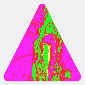 Clamp Brass Q Triangle Sticker