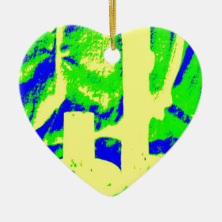 Clamp Brass R Double-Sided Heart Ceramic Christmas Ornament