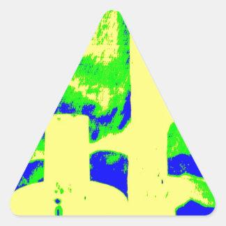 Clamp Brass R Triangle Sticker
