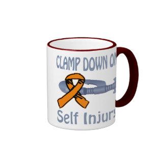 Clamp Down On Self Injury Mug