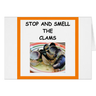 clams card