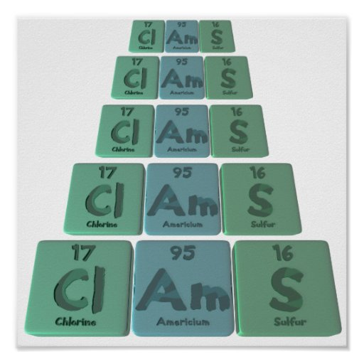 Clams-Cl-Am-S-Chlorine-Americium-Sulfur.png Poster