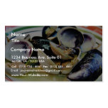 Clams Muscles Shellfish Food Double-Sided Standard Business Cards (Pack Of 100)