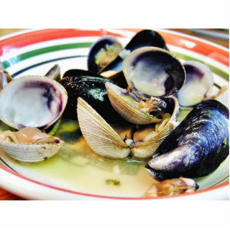 Clams Muscles Shellfish Food Standing Photo Sculpture