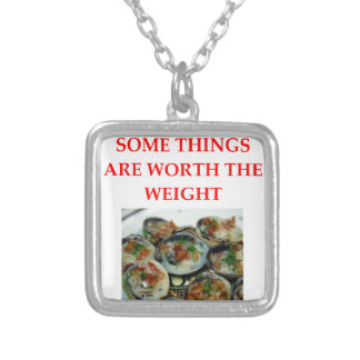 clams square pendant necklace