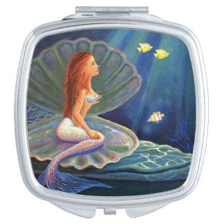 Clamshell Mermaid Compact Mirror