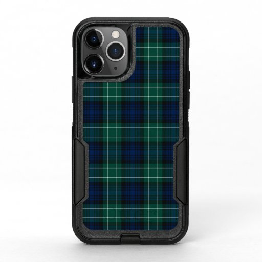 Clan Abercrombie Tartan Blue and Green Plaid OtterBox Commuter iPhone 11 Pro Case