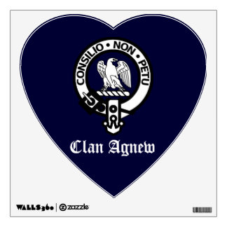 Clan Agnew Heart Shaped Crest Wall Decal
