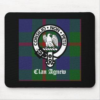 Clan Agnew Tartan Crest Mouse Pad