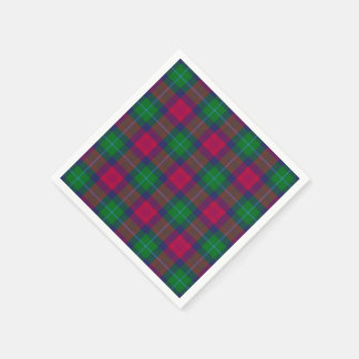 Clan Akins Tartan Plaid Paper Napkin
